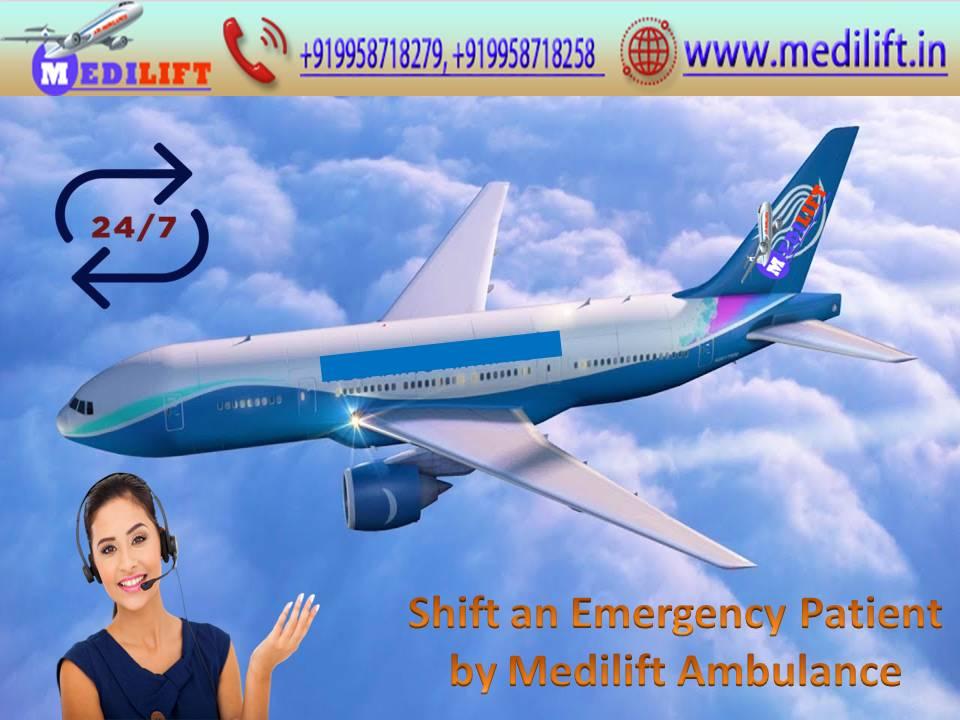 Medilift Air Ambulance in Delhi