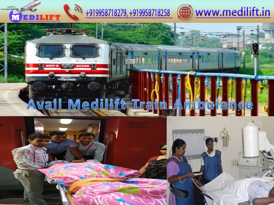 Medilift Train Ambulance from Patna